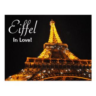 Eiffel In Love Postcard