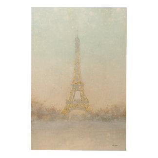 Eiffel Romance no Couple Turquoise 4 Wood Canvases