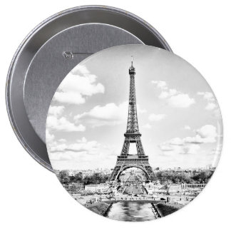 EIFFEL TOWER 4 INCH ROUND BUTTON