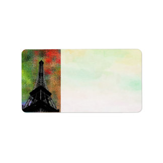 Eiffel Tower Address Label