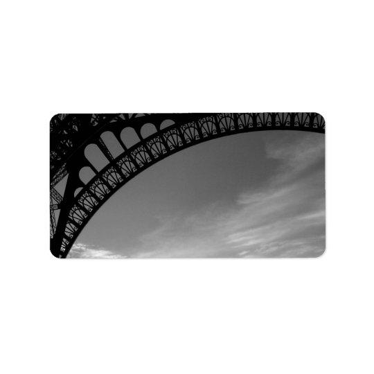 Eiffel Tower Address Labels