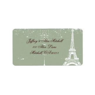 Eiffel Tower Address Labels