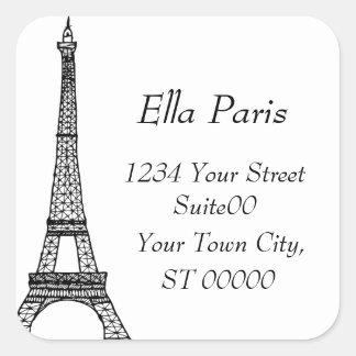Eiffel Tower Address Sticker