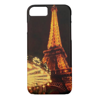 Eiffel Tower after dark iPhone 7 Case