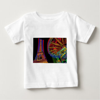 Eiffel Tower and Merry-Go-Round Baby T-Shirt