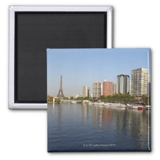 EIFFEL tower and SEINE river Square Magnet