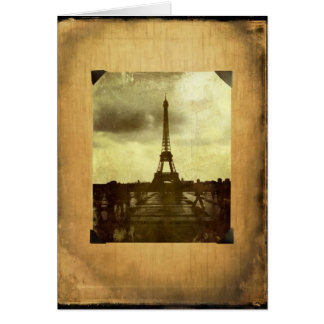 Eiffel Tower Antiqued Scrapbook Page Card