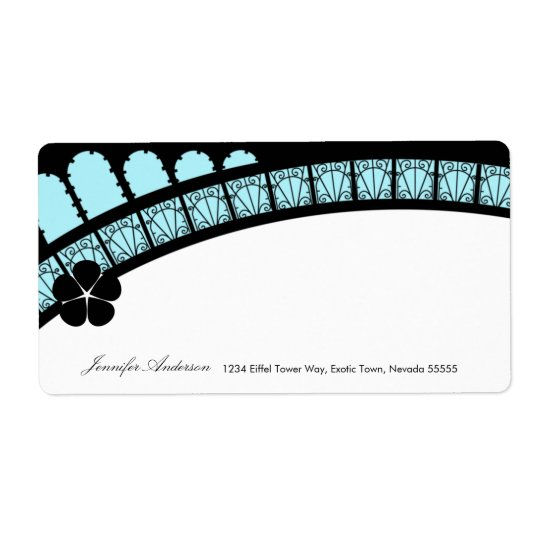 Eiffel Tower Arch Mailing Label