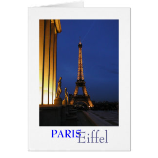 Eiffel Tower at Dusk, Card