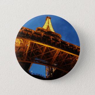 Eiffel Tower at Night 2 Inch Round Button