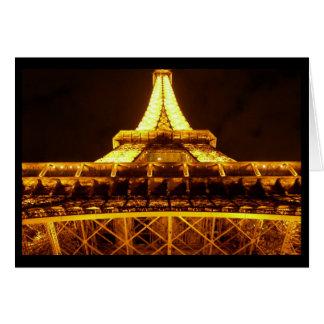Eiffel Tower at Night (Blank) Card