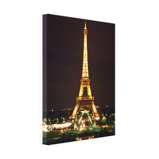 Eiffel Tower at Night Canvas Print