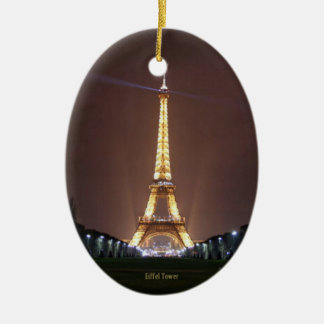 Eiffel Tower at Night Ceramic Ornament