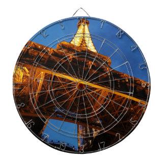 Eiffel Tower at Night Dartboard