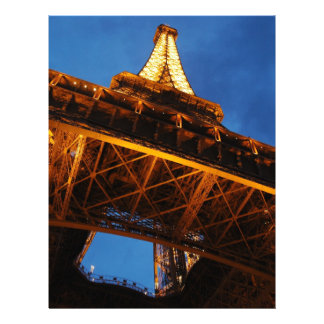 Eiffel Tower at Night Letterhead