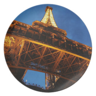 Eiffel Tower at Night Plate