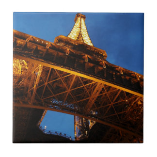 Eiffel Tower at Night Tile