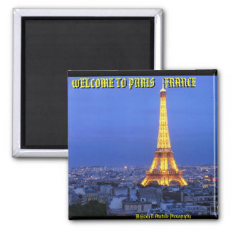 eiffel-tower-at-night, WELCOME TO PARIS    FRAN... Magnet