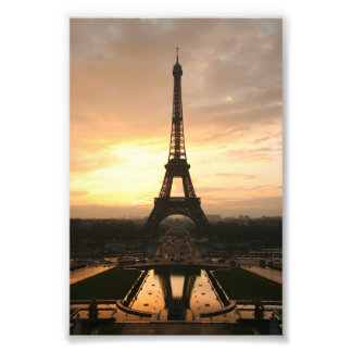 Eiffel Tower at Sunrise from the Trocadero Photo Print
