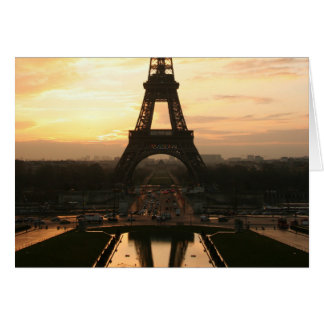Eiffel Tower at sunset Card
