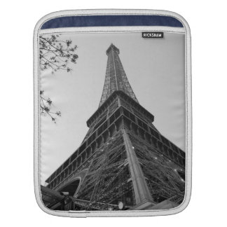 Eiffel Tower b/w iPad Sleeves