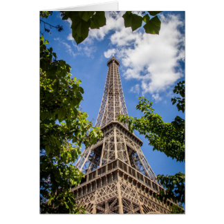 Eiffel Tower Between The Trees Card