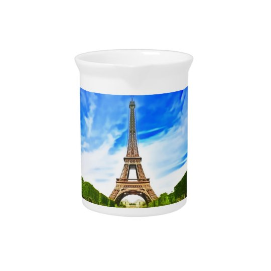 eiffel tower beverage pitcher