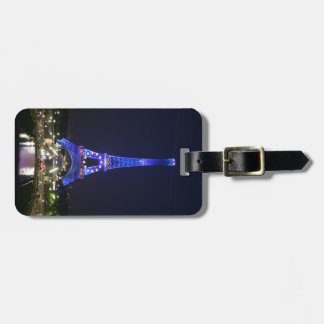 Eiffel Tower (Blue Lights) Luggage Tag