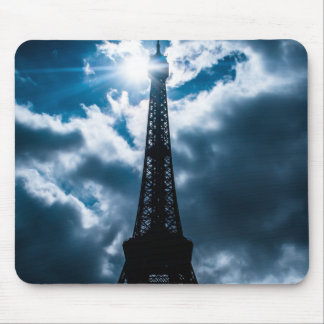 Eiffel Tower Blue Night Mouse Pad