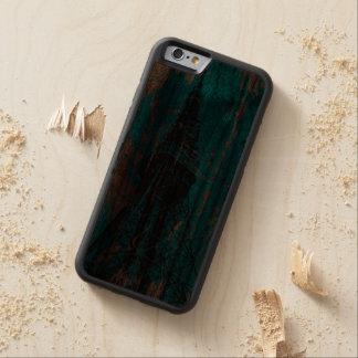 eiffel tower blue wood textures digital art carved walnut iPhone 6 bumper case