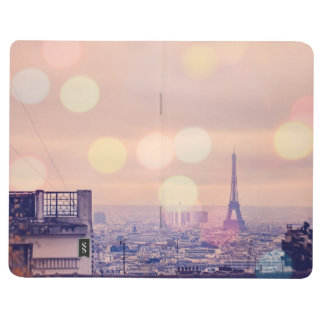 Eiffel Tower Bokeh Montmartre Photo Pocket Journal