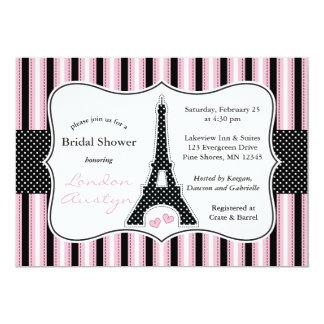 Eiffel Tower Bridal Shower Invitations │ Pink