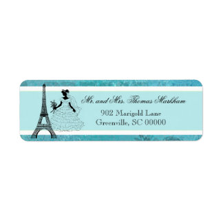 Eiffel Tower Bride Personalized Address Labels
