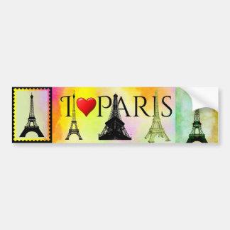 Eiffel Tower Bumpersticker Bumper Sticker