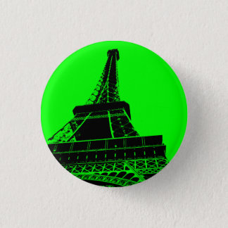 Eiffel Tower Button in Green