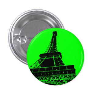 Eiffel Tower Button in Green