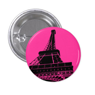 Eiffel Tower Button in Pink