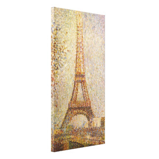 Eiffel Tower by Georges Seurat, Vintage Fine Art Canvas Print