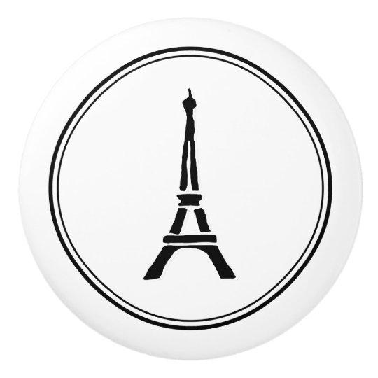 Eiffel Tower Ceramic Knob
