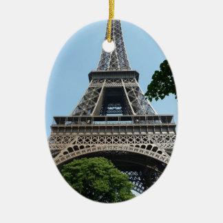 Eiffel Tower Ceramic Oval Ornament