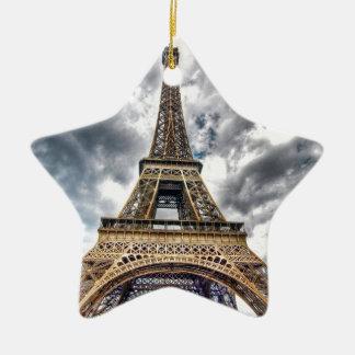 Eiffel Tower Ceramic Star Ornament