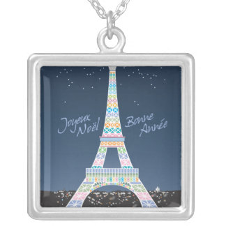 Eiffel Tower Christmas necklace