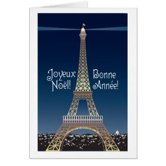 Eiffel Tower Christmas Note Card