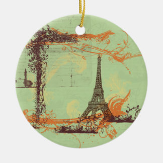 Eiffel Tower Christmas Tree Ornament