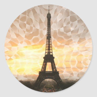 Eiffel Tower Classic Round Sticker