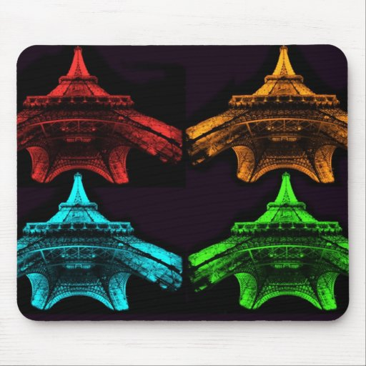 Eiffel Tower Collage Mousepad