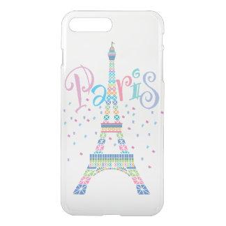 Eiffel Tower Confetti iPhone7 Plus Clear Case