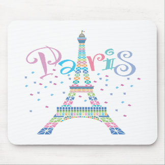 Eiffel Tower Confetti Mousepad