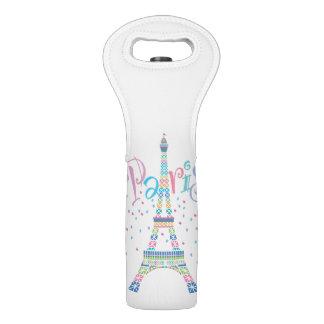 Eiffel Tower Confetti Wine Tote