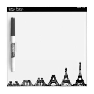 Eiffel Tower Construction Dry Erase Whiteboard